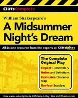 CliffsComplete Shakespeare's A Midsummer Night's Dream