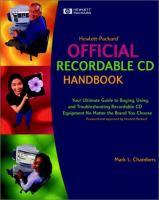 Hewlett-Packard Official Recordable CD Handbook