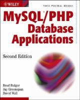 MySQL/PHP Database Applications