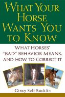 What your Horse Wants You to Know