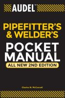 Pipefitter's and Welder's Pocket Manual