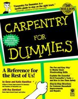 Carpentry for Dummies