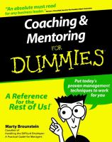 Coaching & Mentoring for Dummies