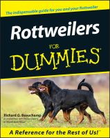 Rottweilers for Dummies