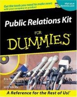 Public Relations Kit for Dummies