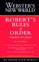 Webster's New World Robert's Rules of Order