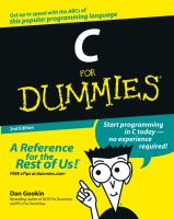 C for Dummies