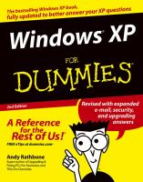 Windows XP for Dummies