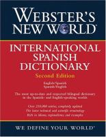 Webster's New World International Spanish Dictionary
