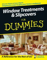 Window Treatments & Slipcovers for Dummies