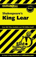 CliffsNotes Shakespeare's King Lear