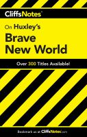 CliffsNotes Huxley's Brave New World