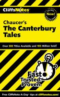 CliffsNotes Chaucer's The Canterbury Tales