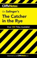 CliffsNotes The Catcher in the Rye