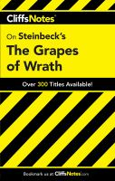 CliffsNotes, Steinbeck's The Grapes of Wrath
