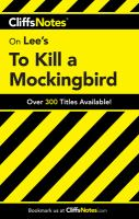 CliffsNotes Lee's To Kill A Mockingbird