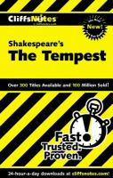 CliffsNotes Shakespeare's The Tempest