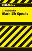 CliffsNotes Black Elk Speaks