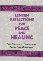 Lenten Reflections For Peace And Healing