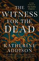 Cover of Witness for the Dead