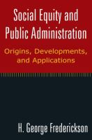 Social Equity and Public Administration