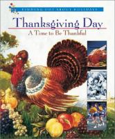 Thanksgiving Day-- A Time to Be Thankful