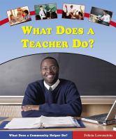 What Does A Teacher Do?