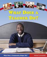 What Does A Teacher Do?