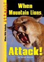 When Mountain Lions Attack!