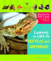 Learning to Care for Reptiles and Amphibians