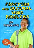 Fraction and Decimal Word Problems
