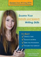 Sharpen your Debate and Speech Writing Skills