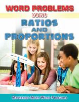 Word Problems Using Ratios and Proportions