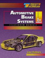 Classroom Manual for Automotive Brake Systems