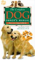 The Complete Dog Owners Manual