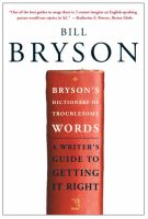 Bryson's Dictionary of Current Troublesome Words