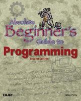 Absolute Beginner's Guide to Programming
