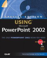 Using Microsoft PowerPoint 2002