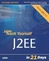 Sams Teach Yourself J2EE In 21 Days