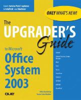 The Upgrader's Guide To Microsoft Office System 2003