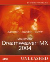 Macromedia Dreamweaver MX 2004 Unleashed