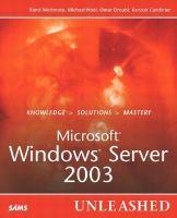 Microsoft Windows Server 2003 UNLEASHED