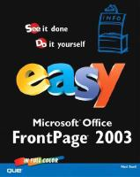 Easy Microsoft FrontPage 2003