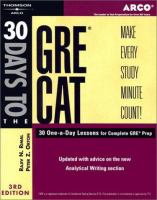 30 Days to the GRE CAT