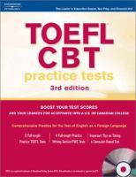 TOEFL CBT Practice Tests [includes CD]