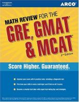 Math Review for the GRE, GMAT & MCAT