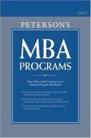 Peterson's MBA Programs 2007
