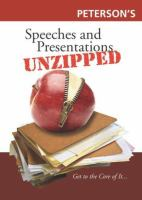 Speeches and Presentations Unzipped