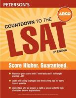 Peterson's Countdown To The LSAT