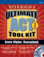 Peterson's Ultimate ACT Tool Kit